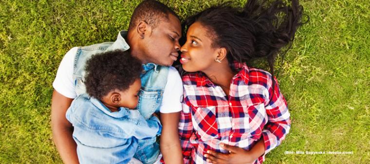 schwarze Familie